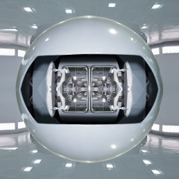 gravitational rotator - outer space (Michael Najjar, Germany)